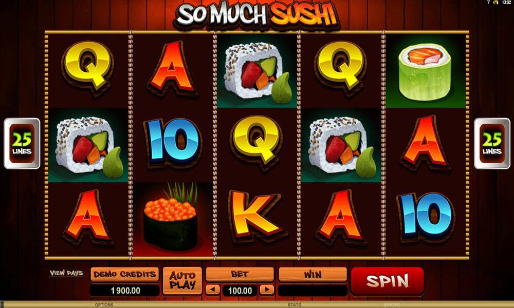 So Much Sushi   Euro Palace Casino Blog